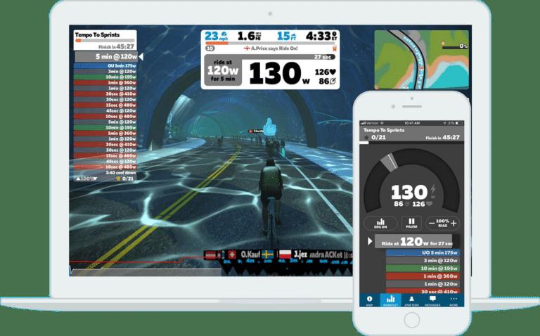 Zwift virker både på computer, tablet og smartphones.